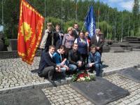 Делегация российских ветеранов и молодежи в Освенциме